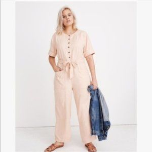 Madewell Topstitched Coverall Jumpsuit - Blush